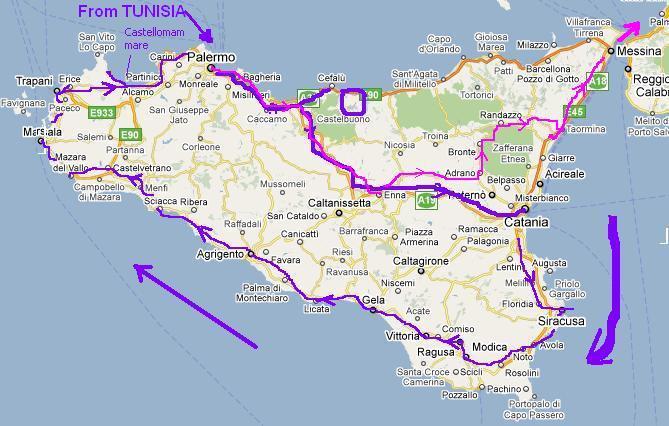 PC600 Sicily Index Stewart Green Travels 2011 – Sicily Tourist Map